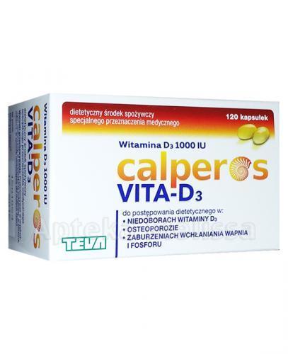 CALPEROS VITA-D3 1000 I.U. - 120 kaps. - Apteka internetowa Melissa