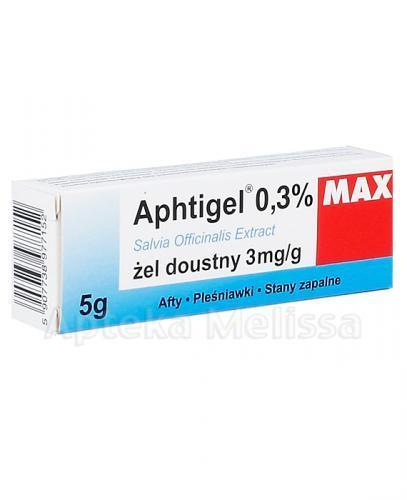 APHTIGEL MAX Żel doustny 3 mg/g - 5 g - Apteka internetowa Melissa