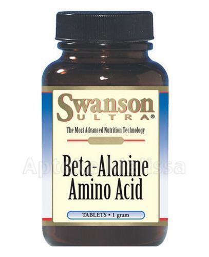 SWANSON Beta Alanine 1000 mg - 60 tabl. - Apteka internetowa Melissa