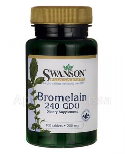 SWANSON Bromelaina 240 GDU - 100 tabl.