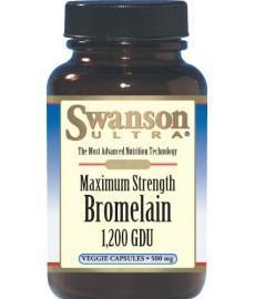 SWANSON Bromelina maksymalna moc 1200 GDU - 60 kaps. - Apteka internetowa Melissa