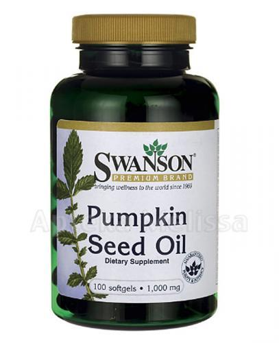SWANSON Pumpkin Seed Oil 1000 mg - 100 kaps.