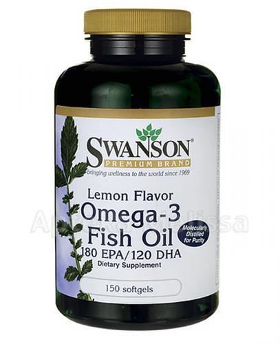 SWANSON Omega 3 o smaku cytrynowym 1000 mg - 150 kaps. - Apteka internetowa Melissa