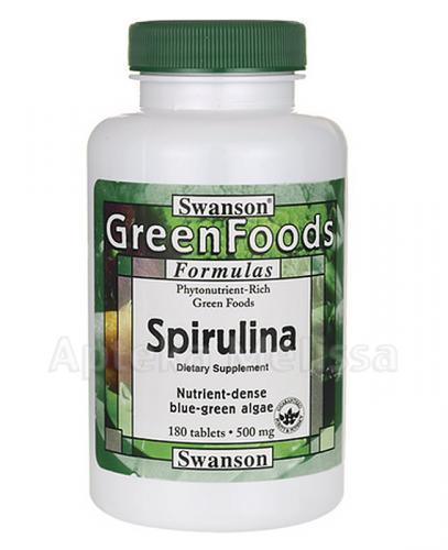 Swanson Spirulina 500 mg - Apteka internetowa Melissa