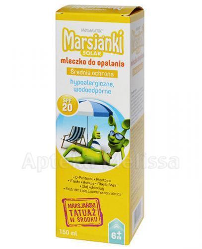 MARSJANKI SOLAR Mleczko do opalania SPF20 - 150 ml - Apteka internetowa Melissa