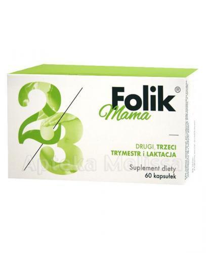 FOLIK MAMA DRUGI, TRZECI TRYMESTR I LATKACJA - 60 kaps. - Apteka internetowa Melissa