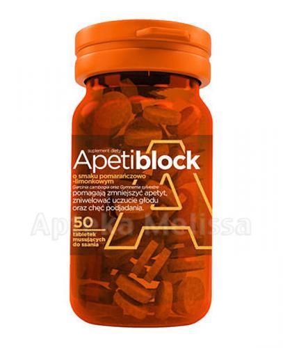 APETIBLOCK Smak pomarańczowo-limonkowy - 50 tabl. - Apteka internetowa Melissa
