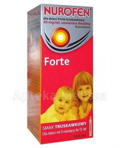 NUROFEN FORTE Dla dzieci truskawkowy 40 mg/ml - 100 ml