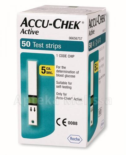 ACCU-CHEK ACTIVE - paski testowe do glukometru - 50 sztuk
