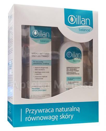OILLAN BALANCE Hydro-aktywny krem do twarzy - 50 ml + OILLAN BALANCE Dermatologiczny żel micelarny do mycia twarzy - 150 ml - Apteka internetowa Melissa