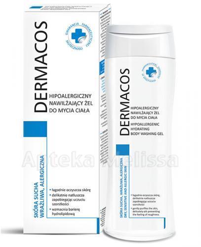 DERMACOS Hipoalergiczny nawilżający żel do mycia ciała - 250 ml - Apteka internetowa Melissa