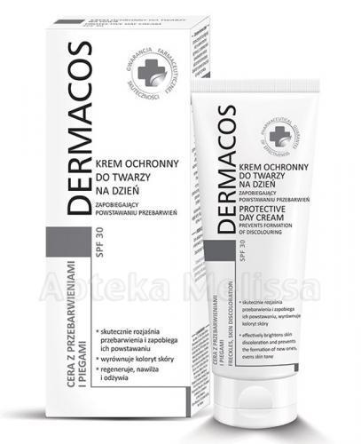 DERMACOS Krem ochronny do twarzy na dzień zapobiegający powstawaniu przebarwień SPF30 - 50 ml - Apteka internetowa Melissa