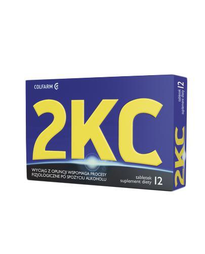 2KC - 12 tabl. Redukcja objawów nadużycia alkoholu.