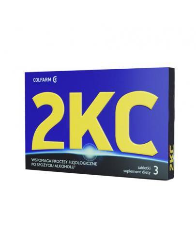 2KC - 3 tabl. Redukcja objawów nadużycia alkoholu.
