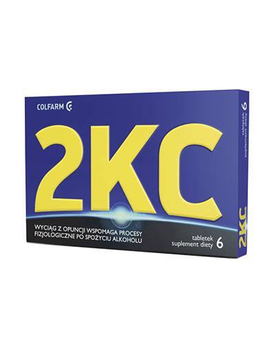 2KC - 6 tabl. Redukcja objawów nadużycia alkoholu.