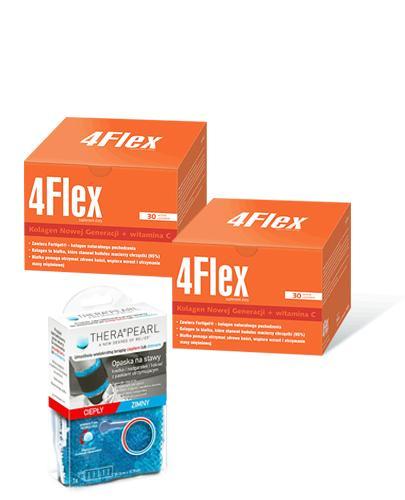 4FLEX Kolagen nowej generacji - 2 x 30 sasz + THERAPEARL Opaska na stawy - 1 szt. - Drogeria Melissa