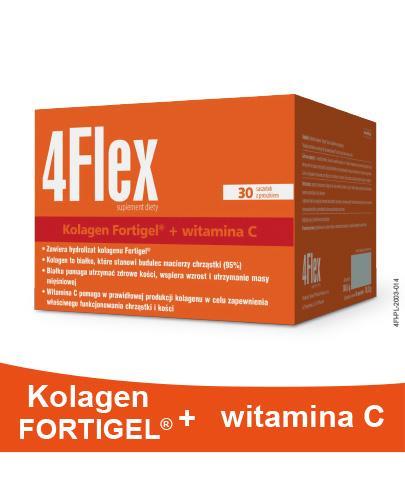 4FLEX Kolagen nowej generacji - 30 sasz. Dla sprawnych i zdrowych stawów. - Drogeria Melissa