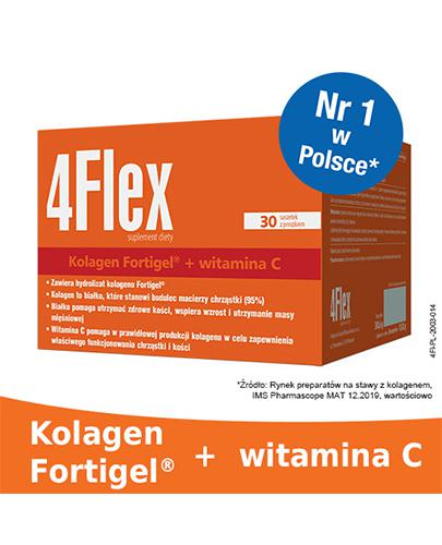 4FLEX Kolagen nowej generacji - 30 sasz. Dla sprawnych i zdrowych stawów.