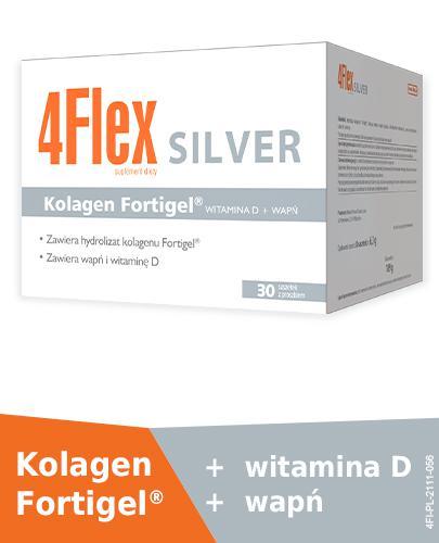 4FLEX SILVER Kolagen nowej generacji - 30 sasz. Kolagen, wapń i witamina D.