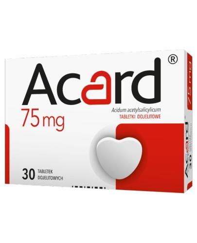 ACARD 75 mg - 30 tabl. Na serce - cena, opinie, dawkownie  - Apteka internetowa Melissa