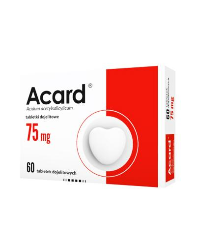 ACARD 75 mg - 60 tabl. Na układ krążenia - cena, opinie, wskazania
