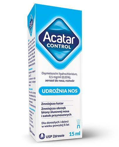 ACATAR 0,5mg/ml Aerozol do nosa - 15 ml - Apteka internetowa Melissa