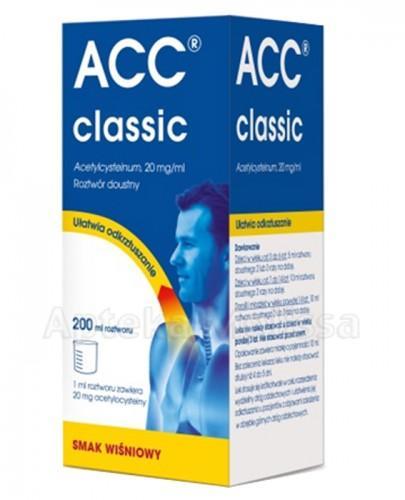 ACC CLASSIC Roztwór doustny smak wiśniowy - 200 ml - Apteka internetowa Melissa