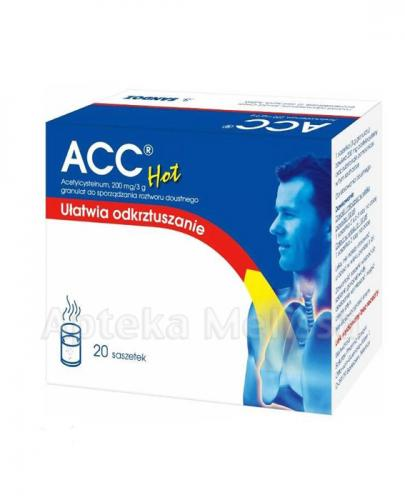 ACC HOT 200 mg - 20 sasz. - Apteka internetowa Melissa
