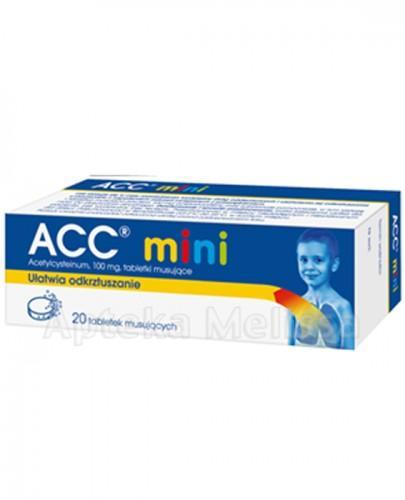 ACC MINI 100 mg - 20 tabl. mus. Data ważności: 2021-07-30 - Apteka internetowa Melissa