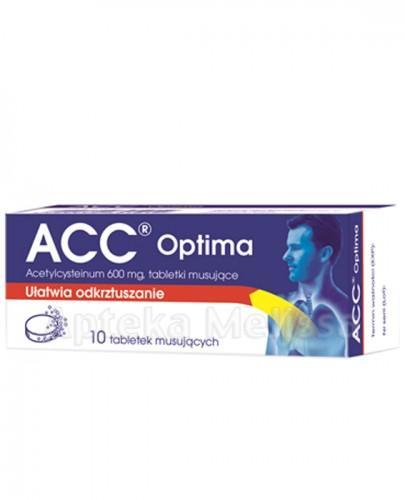 ACC OPTIMA 600 mg - 10 tabl.mus. - Apteka internetowa Melissa