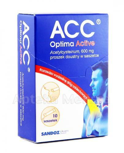 ACC OPTIMA ACTIVE - 10 sasz. na uporczywy kaszel
