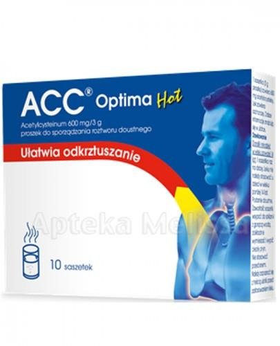 ACC OPTIMA HOT 600 mg - 10 sasz. Data ważności: 2017.08.30 - Apteka internetowa Melissa