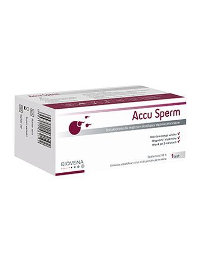ACCU SPERM Test płodności dla mężczyzn określający stężenie plemników - 1 szt. - Drogeria Melissa