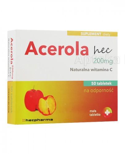 ACEROLA 200 mg hec naturalna witamina C - 50 tabl. - Apteka internetowa Melissa
