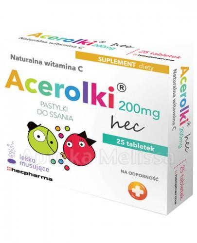 ACEROLKI Naturalna witamina C - 25 past. mus. - Apteka internetowa Melissa