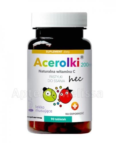 ACEROLKI Naturalna witamina C - 90 tabletek  - Apteka internetowa Melissa