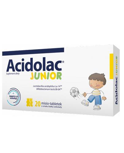 ACIDOLAC JUNIOR Misio tabletki o smaku białej czekolady  - 20 tabl. - Drogeria Melissa