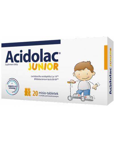 ACIDOLAC JUNIOR Misio tabletki o smaku pomarańczowym  - 20 tabl.