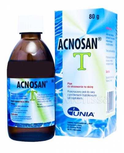 ACNOSAN T Płyn do stosowania na skórę -  80 g. Na trądzik czy łojotokowe zapalenie skóry. - Drogeria Melissa