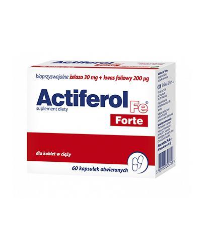 ACTIFEROL FE FORTE - 60 kaps. - cena, dawkowanie, opinie  - Apteka internetowa Melissa