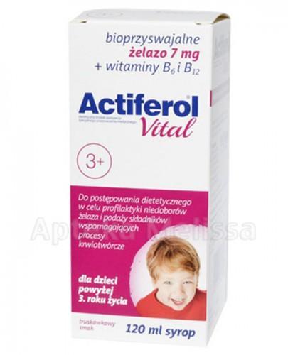 ACTIFEROL VITAL Syrop od 3 roku życia - 120 ml - Apteka internetowa Melissa