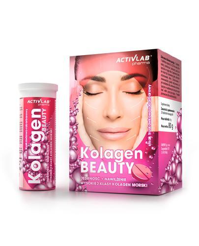 ACTIVLAB Kolagen Beauty o smaku truskawkowo-rabarbarowym - 20 tab. mus.  - Apteka internetowa Melissa