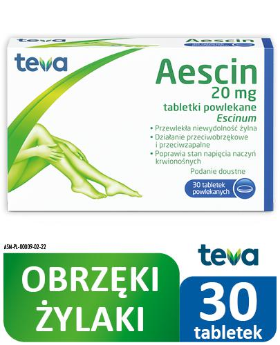 AESCIN - 30 tabl. Lek na żylaki - cena, opinie, ulotka