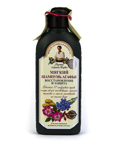AGAFII Szampon ziołowy miękki do włosów farbowanych i zniszczonych - 350 ml  - Apteka internetowa Melissa