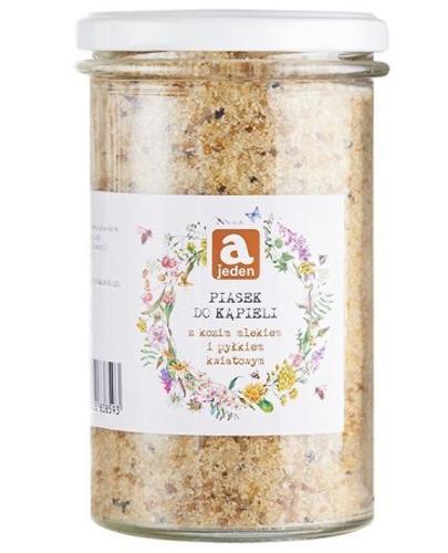 Ajeden Piasek do kąpieli z kozim mlekiem i pyłkiem kwiatowym - 450 g - cena, opinie, stosowanie - Drogeria Melissa