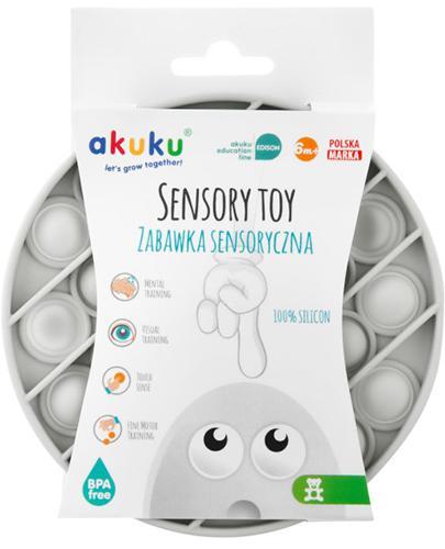 AKUKU Zabawka sensoryczna kółko - szara - 1 szt. - cena, opinie, stosowanie - Apteka internetowa Melissa