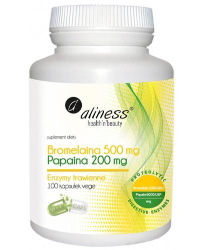 ALINESS Bromelaina 500 mg, Papaina 200 mg - 100 kaps. - Apteka internetowa Melissa
