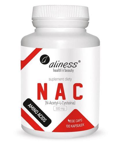 ALINESS NAC N-Acetyl-L-Cysteine 500 mg - 100 kaps. - poprawa odporności, wyglądu skóry - cena, dawkowanie, opinie  - Drogeria Melissa