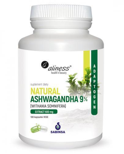 ALINESS Natural Ashwagandha 9% 600 mg - 100 kaps. - Apteka internetowa Melissa
