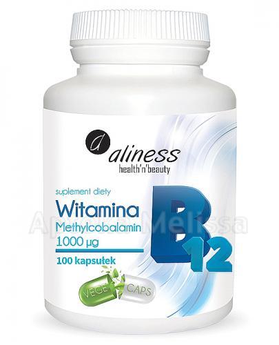 ALINESS Witamina B12 Methylcobalamin 1000µg - 100 kaps. - Apteka internetowa Melissa
